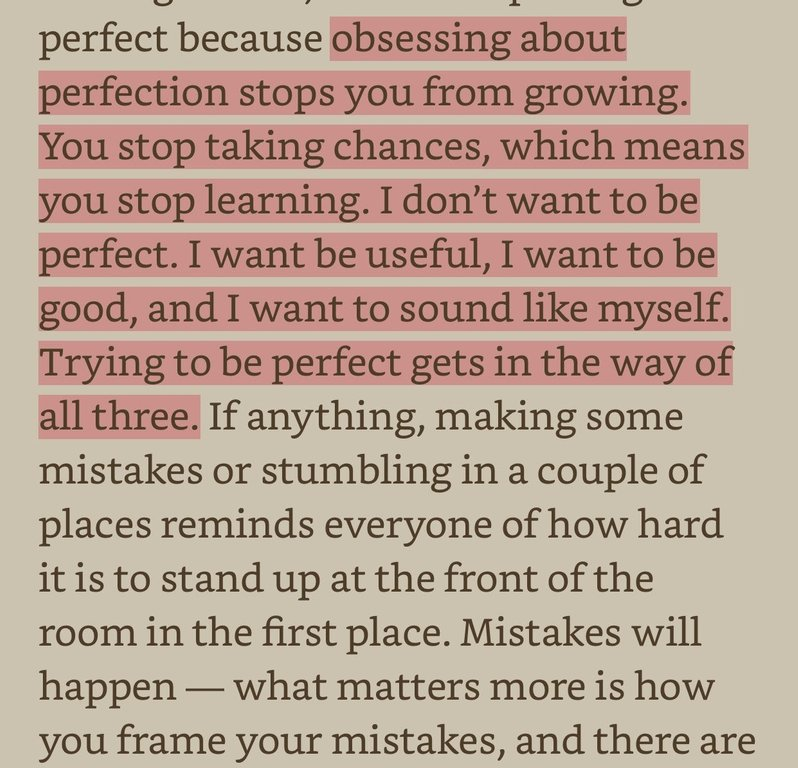 Be Useful, Not Perfect