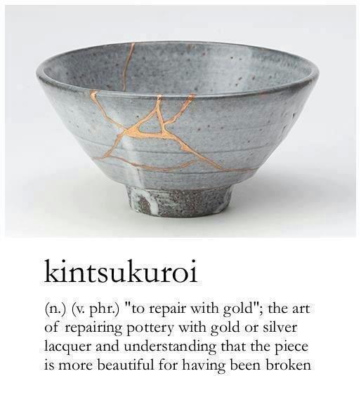 kintsukuroi fall down stand up