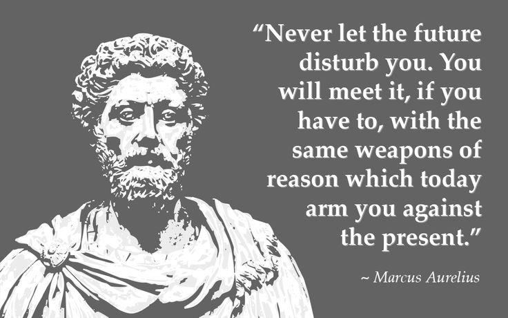 Face Future With Reason - Marcus Aurelius