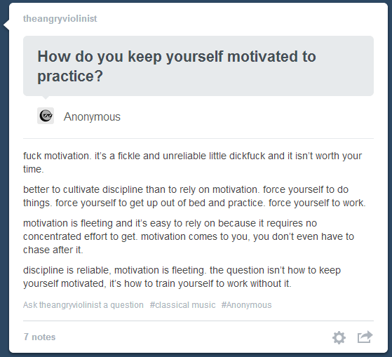 Discipline Over motivation