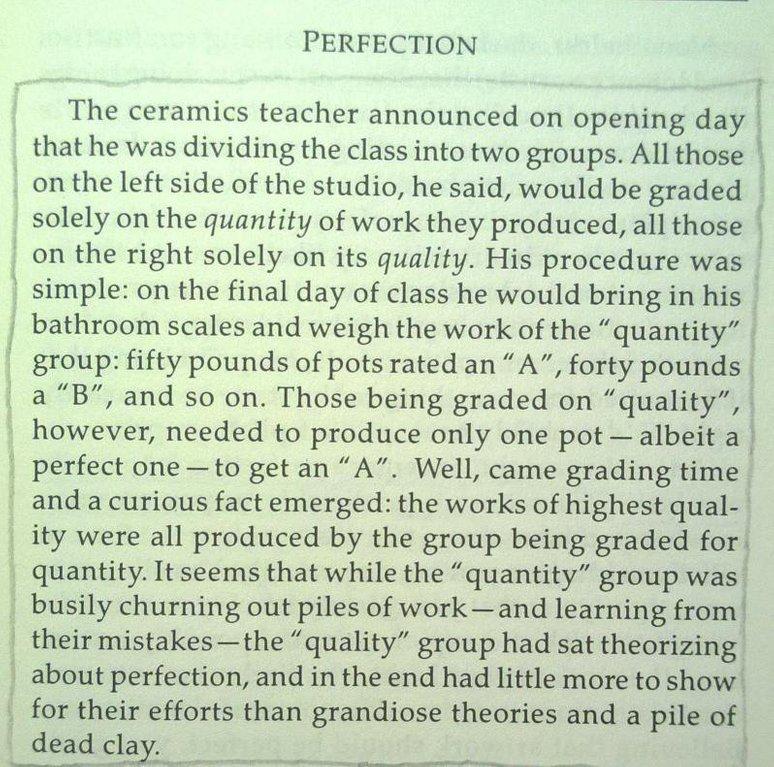 Perfection is Bullshit