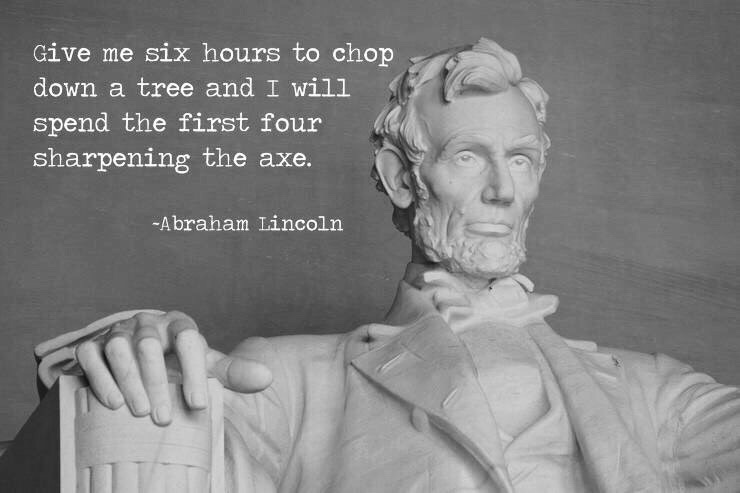 Give me six hours Lincoln quote