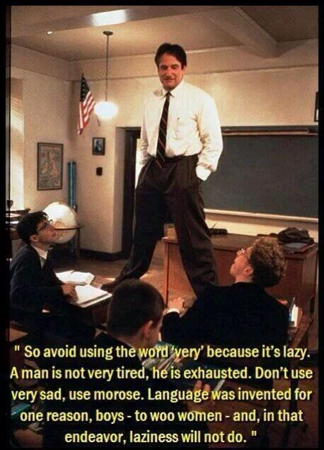dead poets society use better words